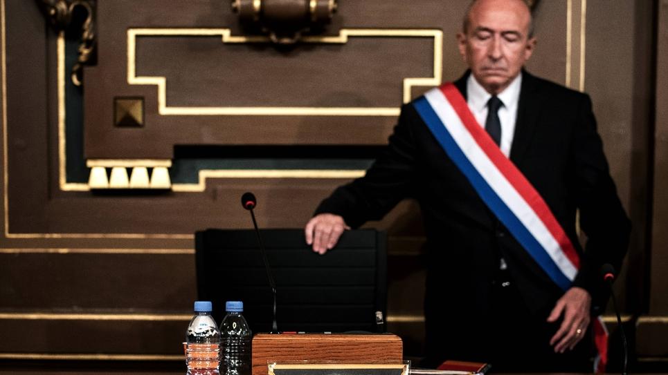Le maire de Lyon Gérard Collomb, le 5 novembre 2018 à Lyon