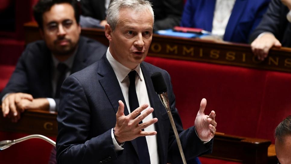 Le ministre de l'Economie Bruno Le Maire, à l'Assemblée nationale le 26 septembre 2018