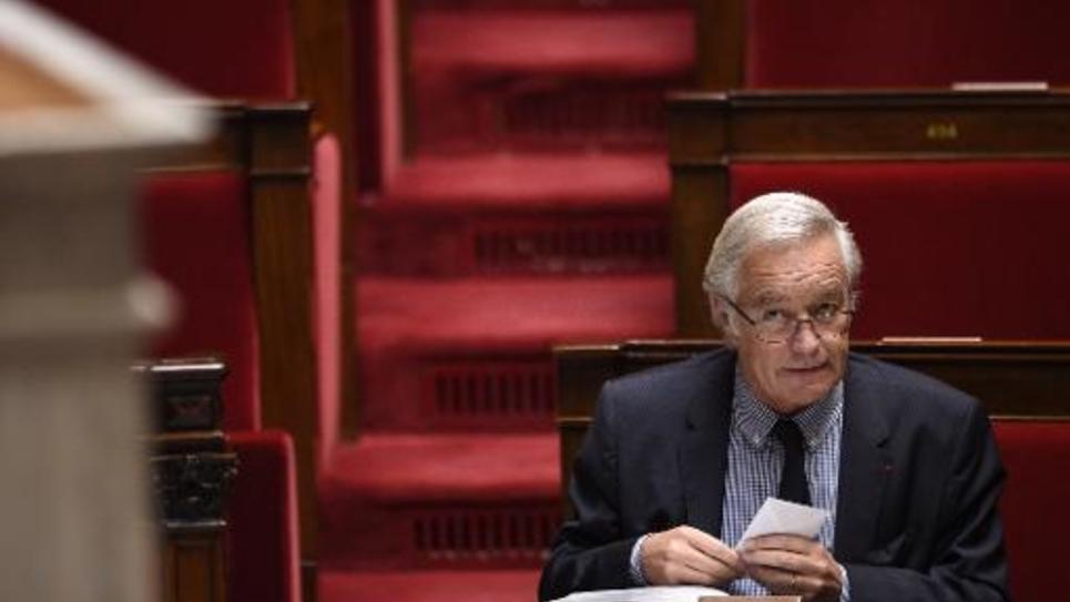 Le ministre français du Travail François Rebsamen à l'Assemblée Nationale le 15 octobre 2014