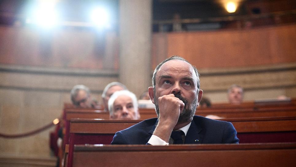 Edouard Philippe, le 12 septembre 2019, au Conseil économique, social et environnemental (Cese)