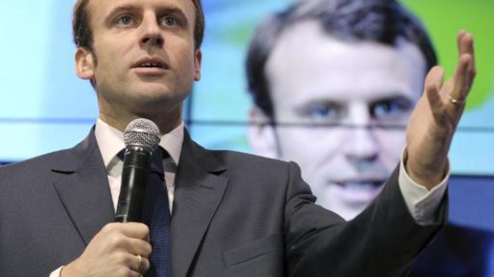 """Le ministre de l'Economie  Emmmanuel lors du forum  """"Osons La France"""" le 4 décembre 2014 à Paris"""
