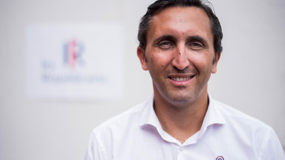 Le député du Vaucluse Julien Aubert, candidat à la présidence de LR, le 31 août 2019 à La Baule