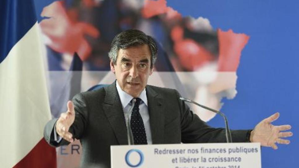 L'ancien Premierm inistre François Fillon lors d'une conférence de presse à Paris le 1er octobre 2014