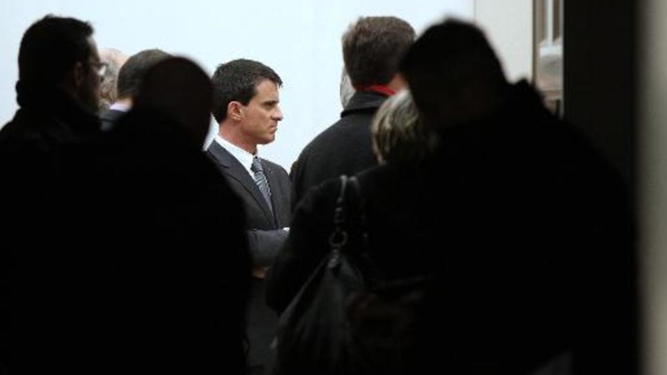 Le Premier ministre Manuel Valls à Rouen, le 13 février 2015