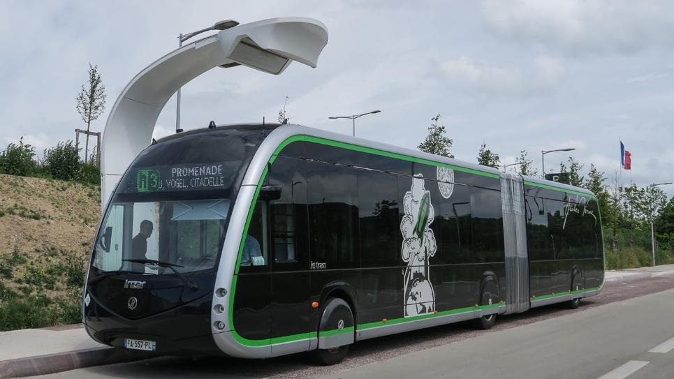 Autobus électrique à Amiens, le 27 mai 2019