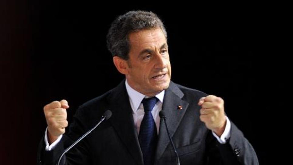 Nicolas Sarkozy le 15 octobre 2014 à Saint-Cyr-sur-Loire