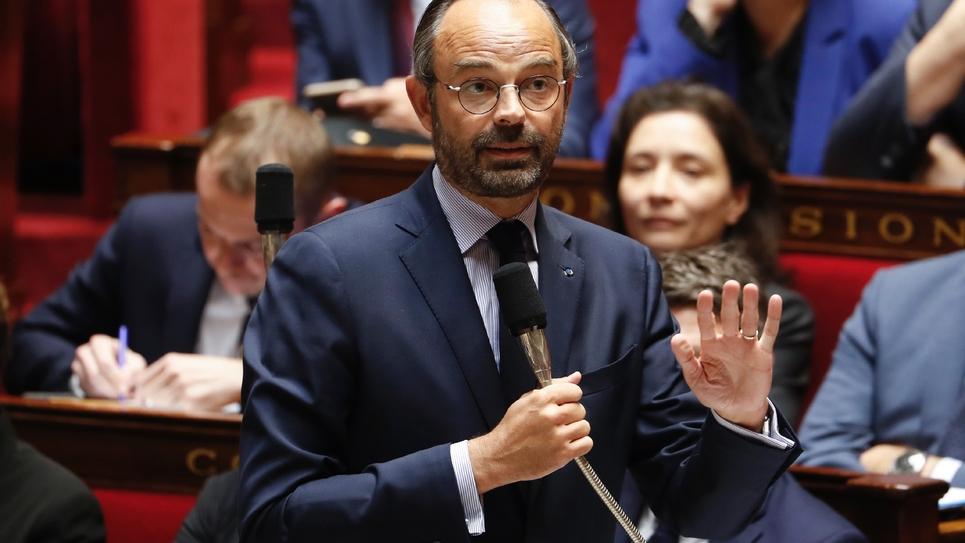 Le Premier ministre français Edouard Philippe à l'Assemblée nationale le 10 octobre 2018