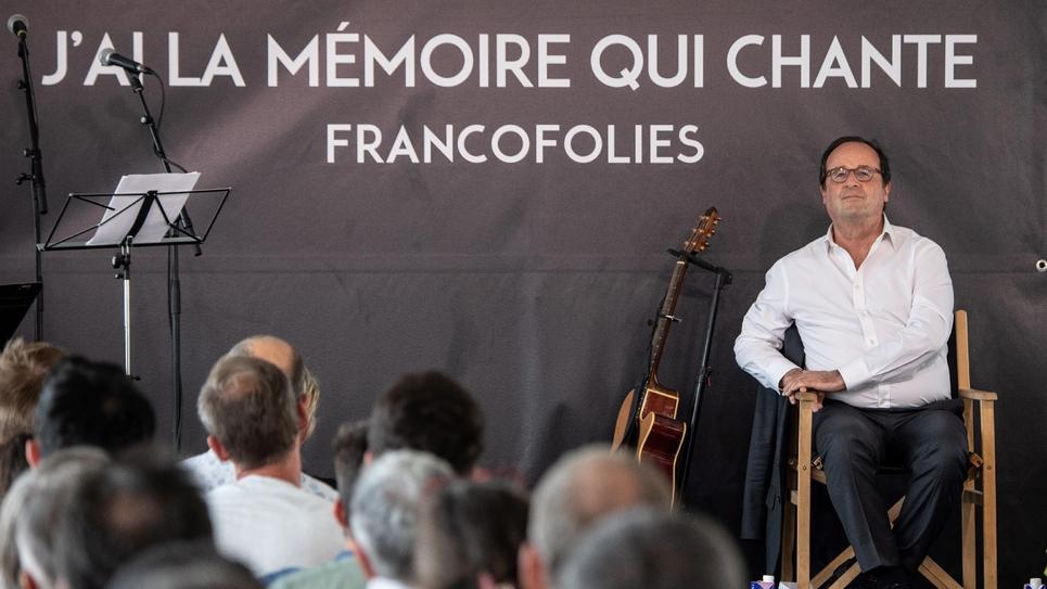 François Hollande, le 11 juillet 2019 à La Rochelle