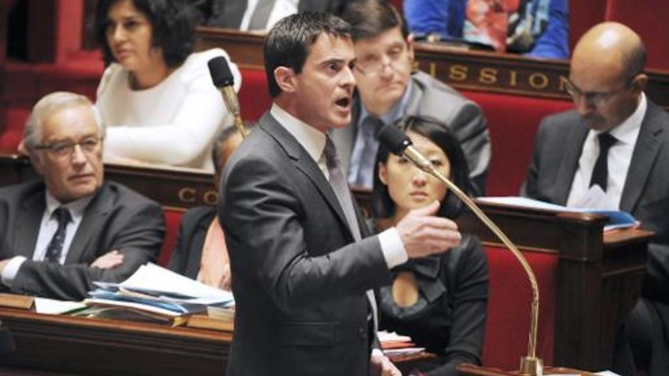 Le Premier ministre Manuel Valls s'exprime à l'Assemblée  nationale le 2 décembre 2014