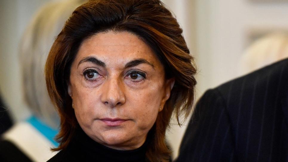 La présidente de la métropole Aix-Marseille-Provence et du département des Bouches-du-Rhône, Martine Vassal à Marseille le 5 novembre 2019