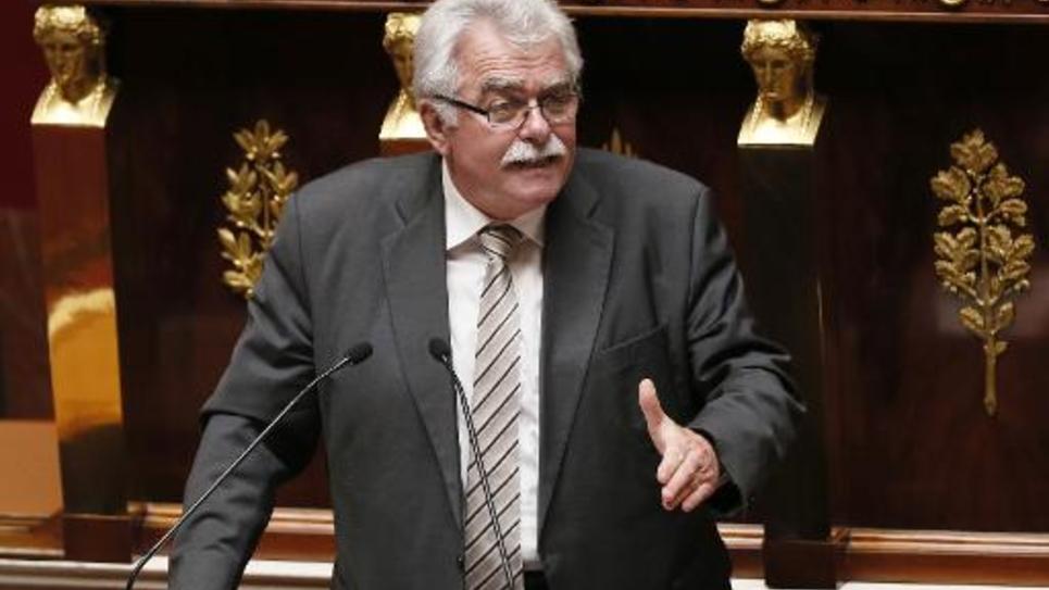 André Chassaigne, président du groupe Front de Gauche à l'Assemblée nationale le 16 septembre 2014 à Paris