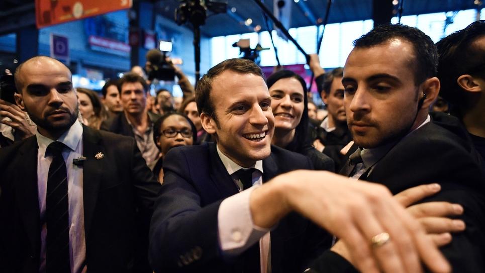 Emmanuel Macron au salon de l'agriculture à Paris le 1er mars 2017