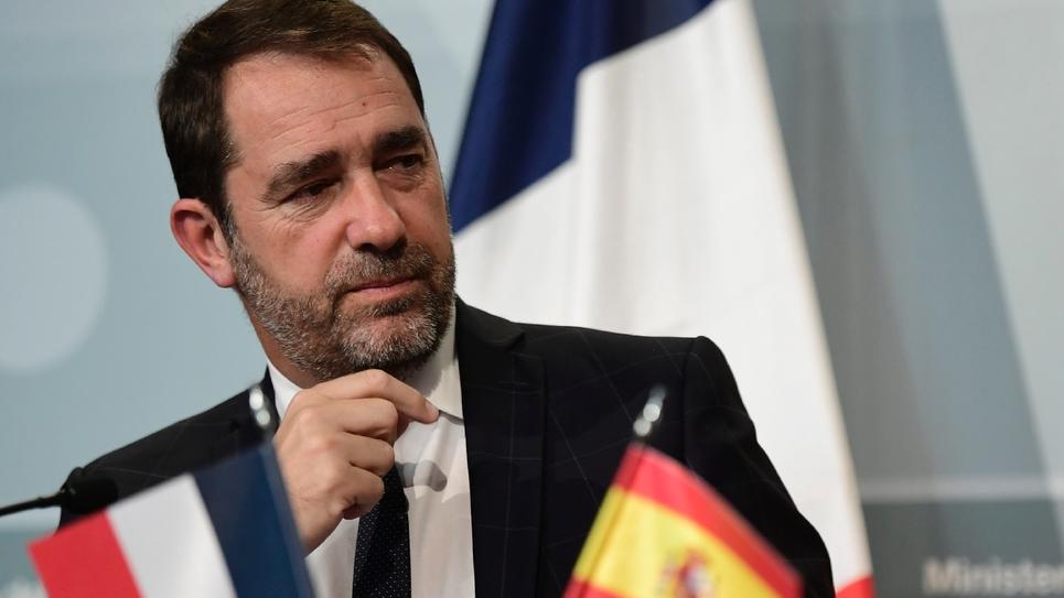 Christophe Castaner lors d'une conférence de Presse à Madrid le 12 novembre 2018