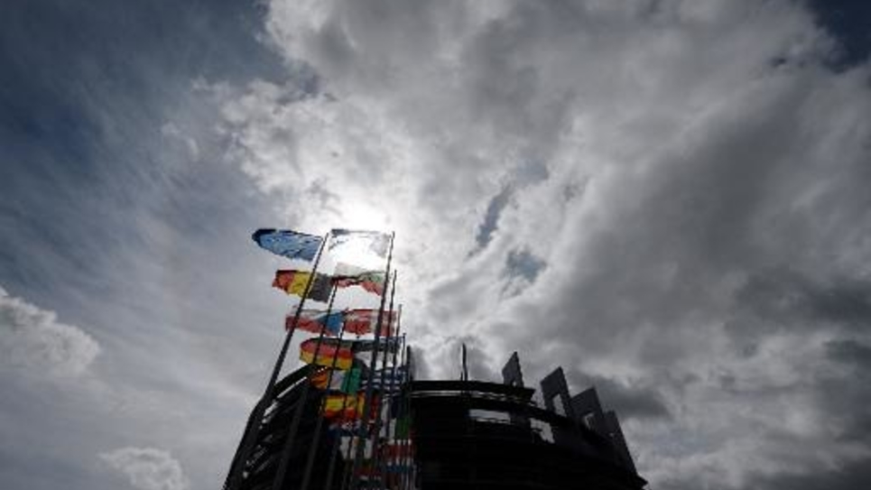 Le siège du Parlement européen à Strasbourg, le 9 mai 2014