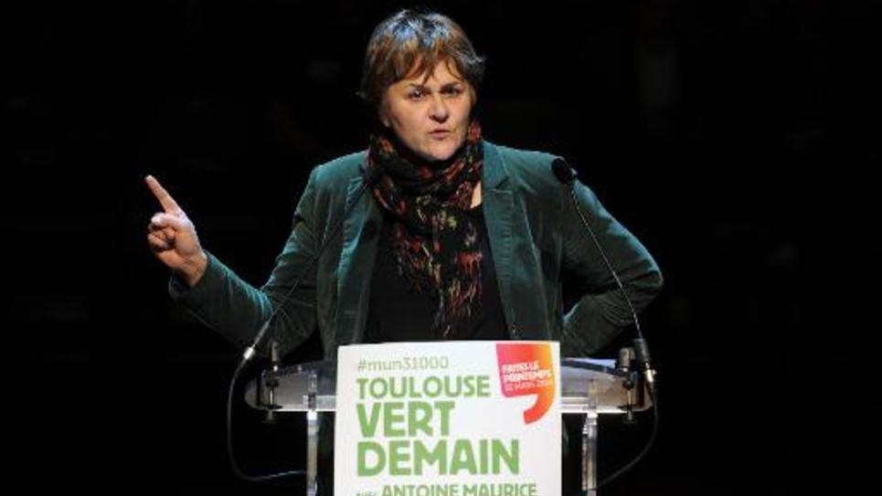 Dominique Voynet, maire de Montreuil, à Toulouse le 12 mars 2014