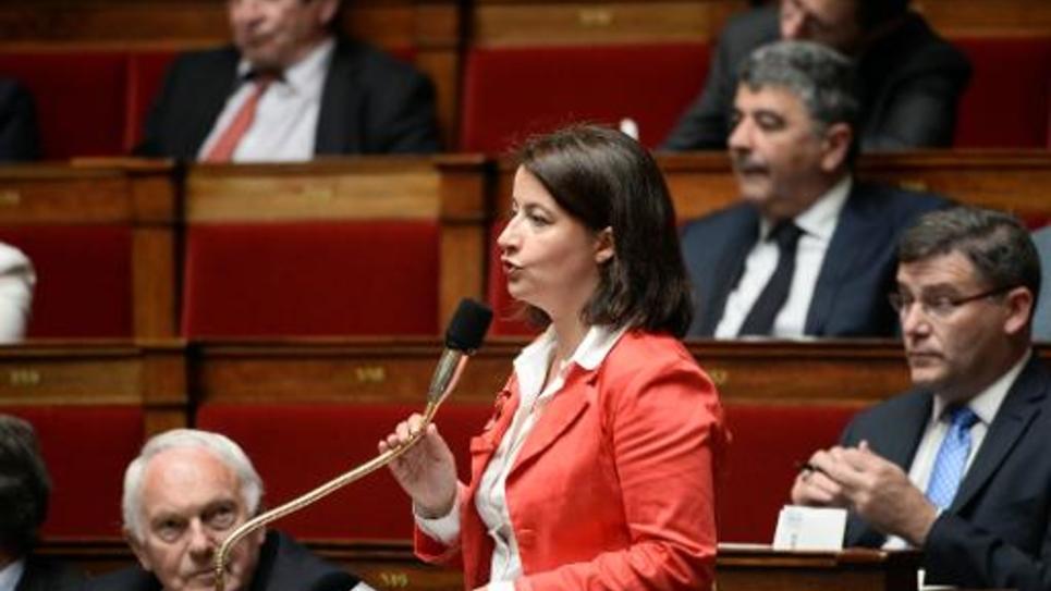 La députée verte Cécile Duflot le 26 mai 2015 à l'Assemblée
