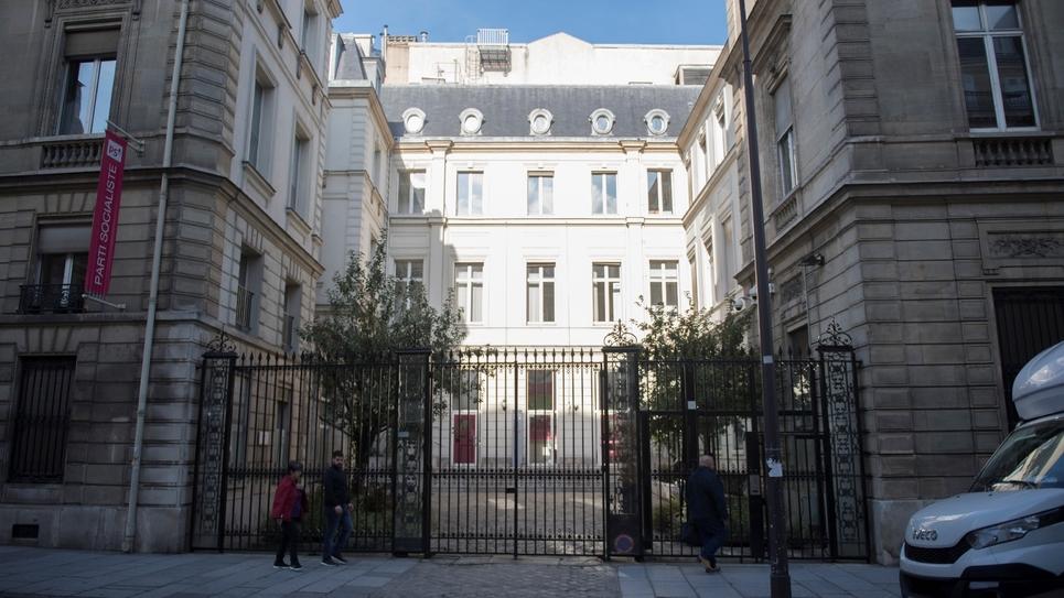 Le siège du parti socialiste à Paris le 20 septembre 2017