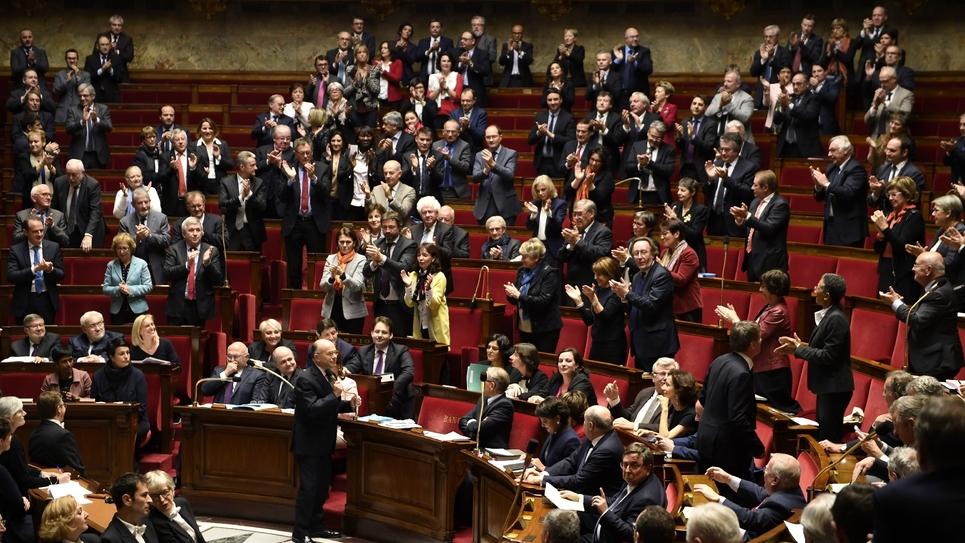 Les députés à l'Assemblée nationale, le 7 décembre 2016 à Paris