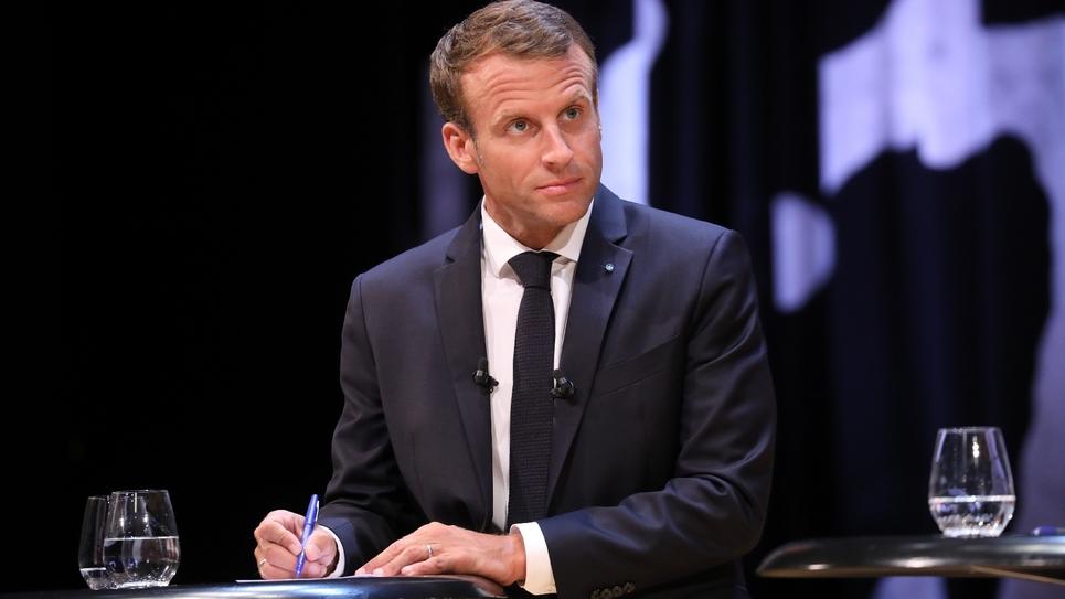 Le président Emmanuel Macron à Copenhague au Danemark, le 28 août 2018