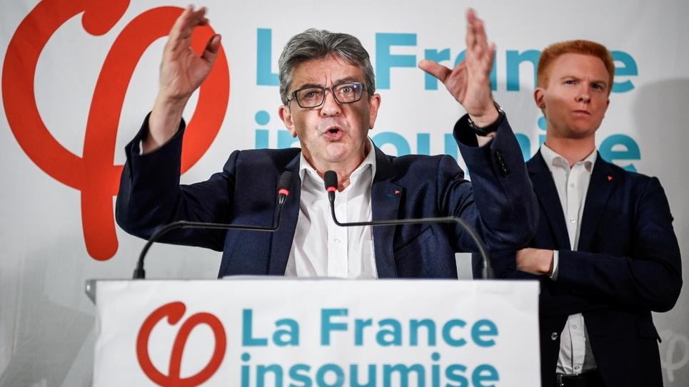 Jean-Luc Mélenchon donne une conférence au siège de LFI à Paris, le 19 octobre 2018