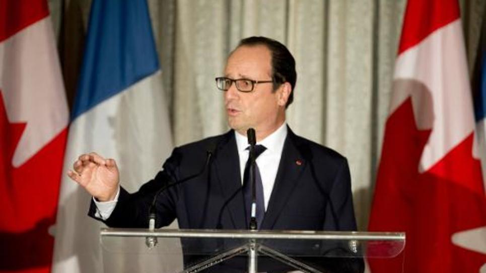 François Hollande lors d'un discours à Banff, au Canada, le 2 novembre 2014