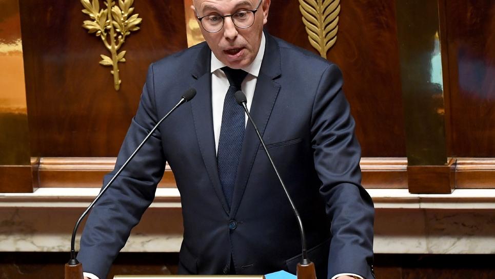 Le député LR Eric Ciotti s'exprime à l'Assemblée nationale à Paris le 7 octobre 2019