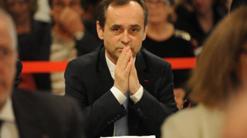 Le maire de Béziers Robert Ménard, le 4 avril 2014 lors de son premier conseil municipal