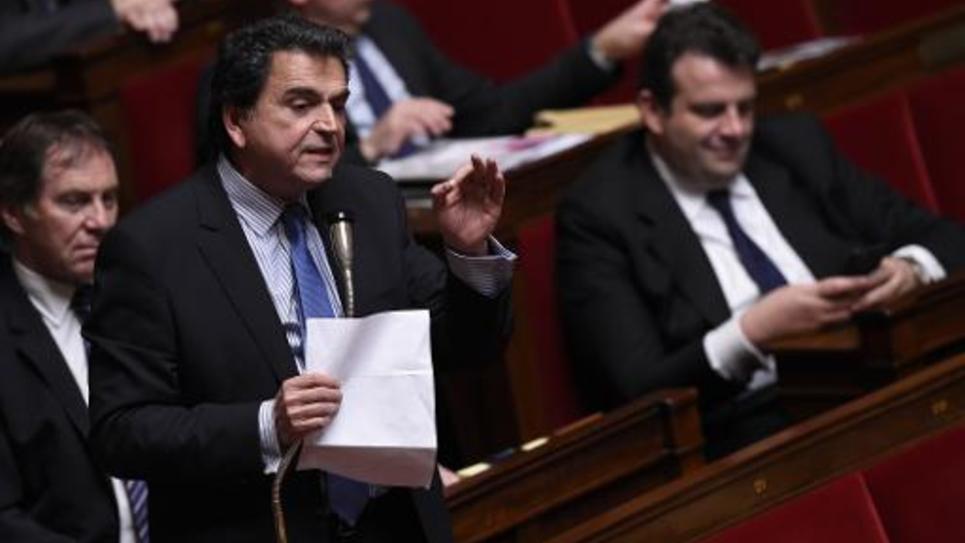 Le député UMP Pierre Lellouche à l'Assemblée nationale le 8 avril 2015