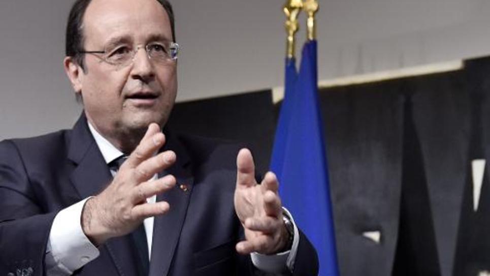 François Hollande à Rodez le 30 mai 2014