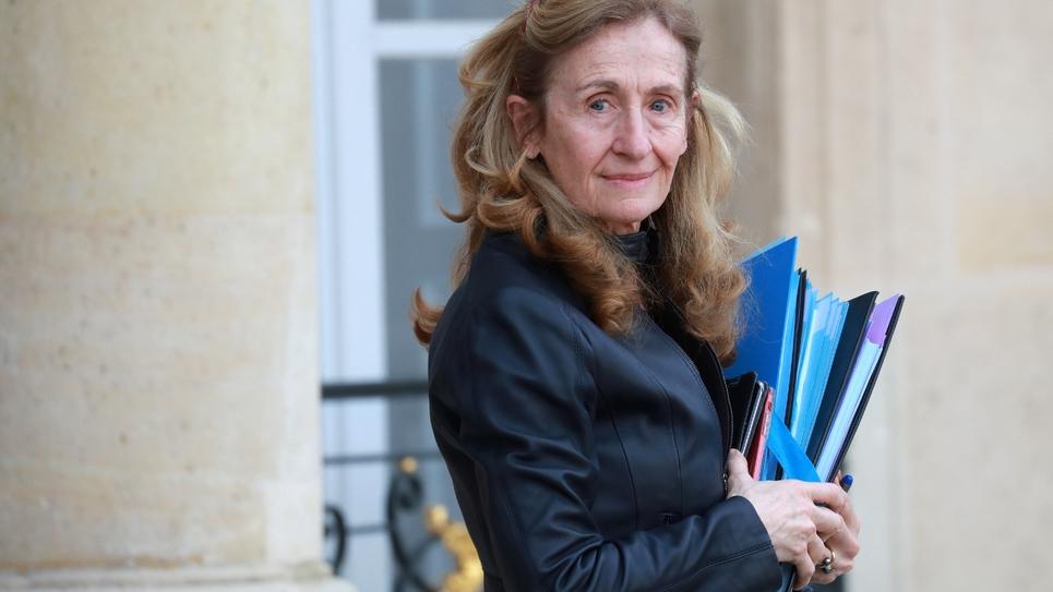 La ministre de la Justice Nicole Belloubet à l'Elysée, le 29 janvier 2020 à Paris