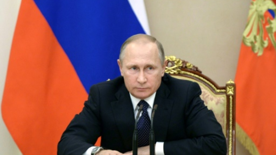 Le président Vladimir Poutine à Moscou, au Kremlin, le 26 septembre 2016.