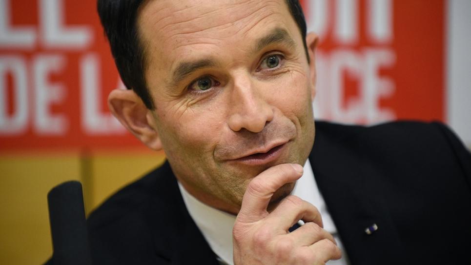 Benoît Hamon, candidat à la primaire organisée par le PS en vue de la présidentielle, le 6 janvier 2017 à Nancy