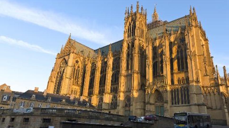 La cathédrale Saint-Etienne de Metz le 6 février 2012