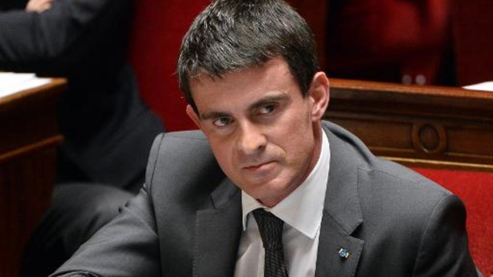 Manuel Valls à l'Assemblée nationale le 3 décembre 2014 à Paris