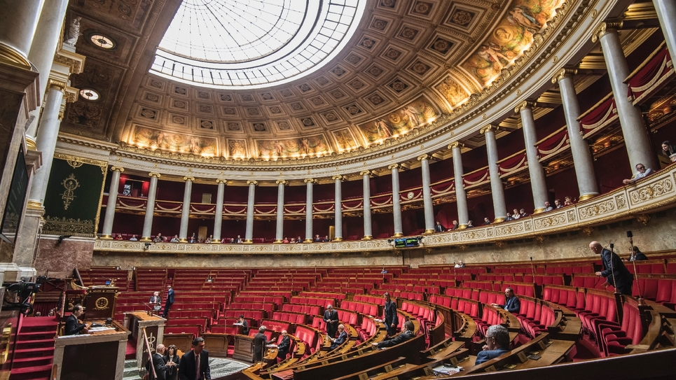 L'hémicycle de l'Assemblée nationale à Paris, le 10 octobre 2017