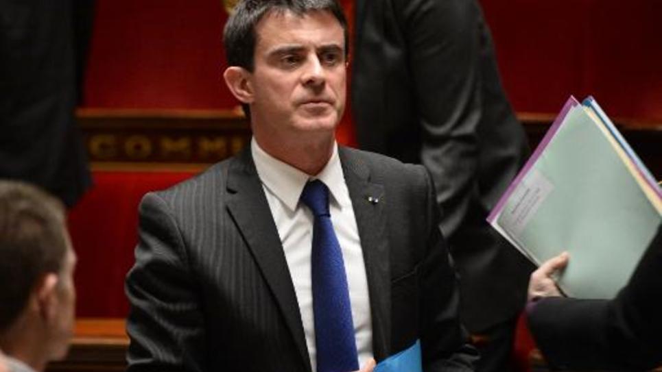 Le Premier ministre Manuel Valls à l'Assemblée le 3 février 2015