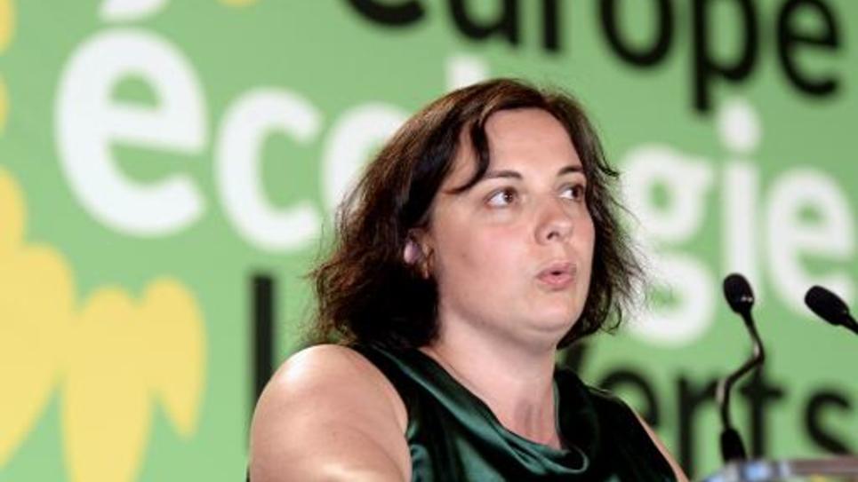 La secrétaire nationale EELV Emmanuelle Cosse aux Universités d'été du parti à Pessac, le 23 août 2014