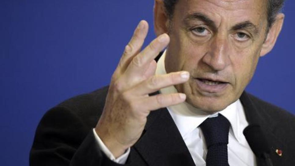 Nicolas Sarkozy au siège de l'UMP, le 17 janvier 2015