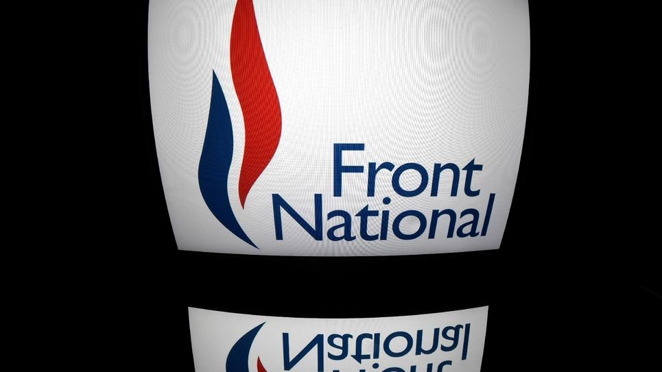Le logo du Front national, à Paris, le 13 octobre 2016