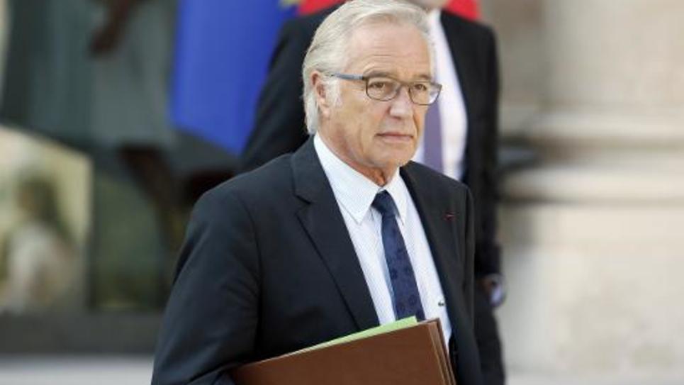 Le ministre du Travail François Rebsamen à la sortie du Conseil des ministres le 10 septembre 2014 à l'Elysée à Paris