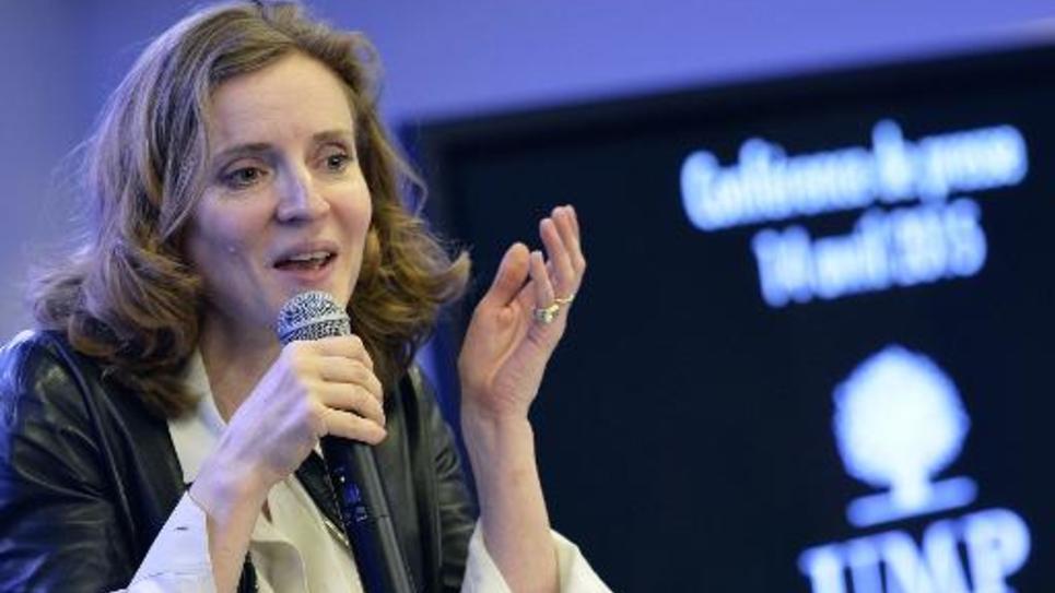 La dépuutées UMP Nathalie Kosciusko-Morizet le 14 avril 2015 à Paris