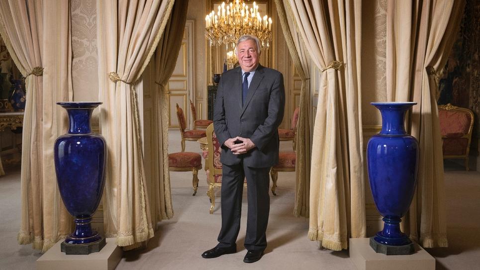 Le président du Sénat, Gérard Larcher, au Palais du Luxembourg, le 6 juin 2018 à Paris