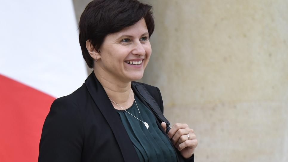 La ministre des Sports Roxana Maracineanu à sa sortie du palais de l'Elysée à l'issue du conseil ministériel, le 17 octobre 2018