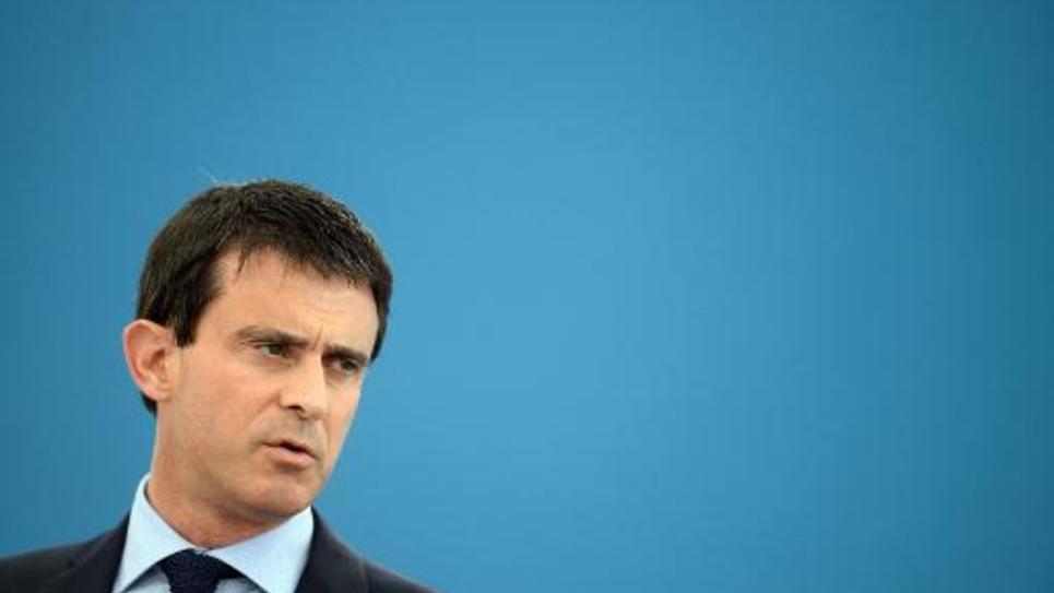 Le Premier ministre Manuel Valls en visite dans une usine à Gasny le 27 juin 2014