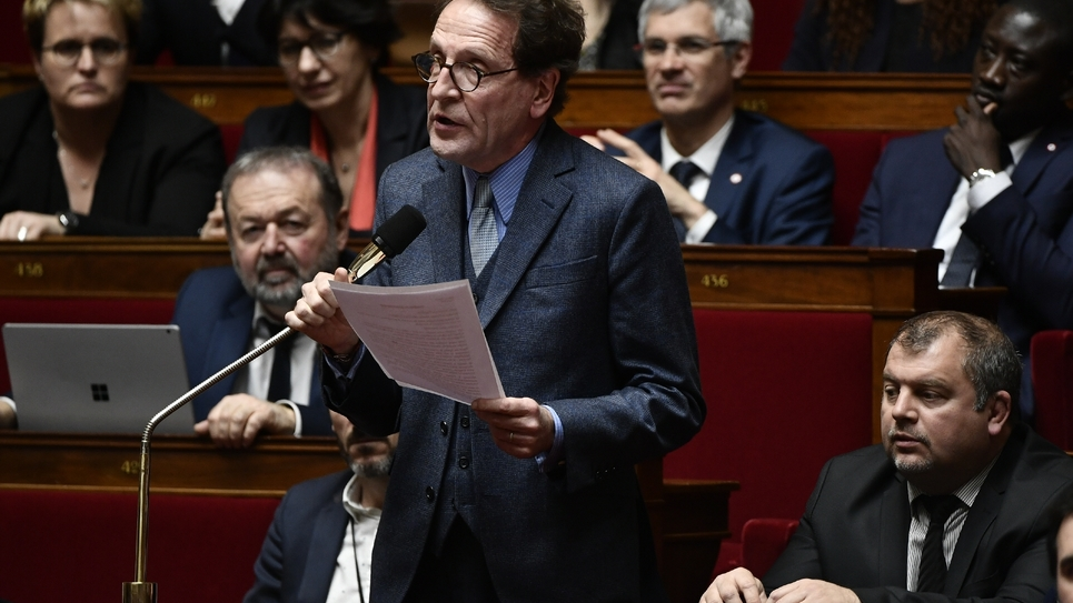 Le député de l'Oise de La République en Marche (LREM) Gilles Le Gendre, le 7 mai 2018 à l'Assemblée nationale