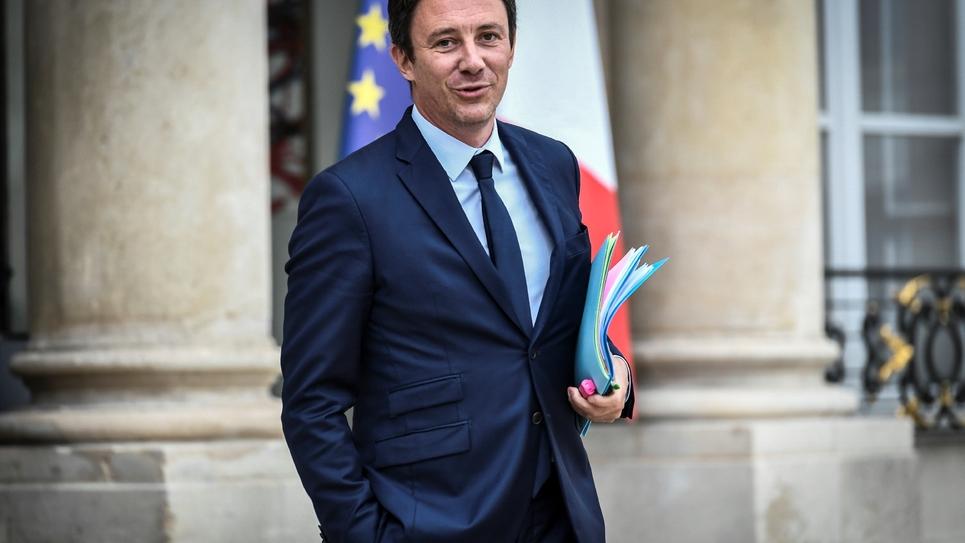 Benjamin Griveaux, le porte-parole du gouvernement, quitte l'Elysée le 31 août 2018