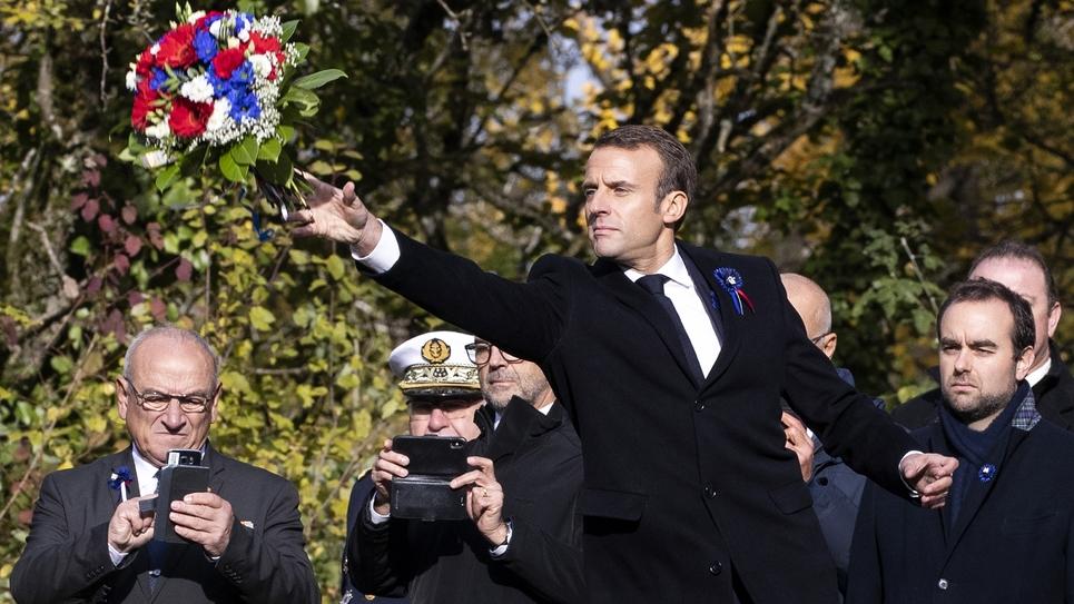 Emmanuel Macron commémore la Grande Guerre aux Eparges, dans la Meuse, le 6 novembre 2018