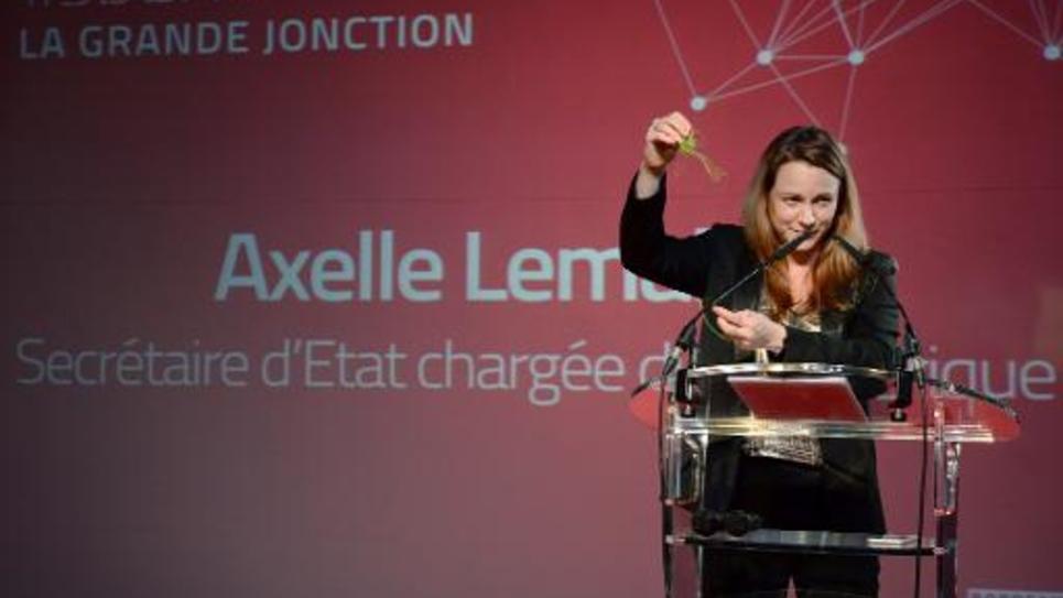 La secrétaire d'Etat à l'Economie Digitale Axelle Lemaire lors d'un discours à bordeaux le 17 octobre 2014
