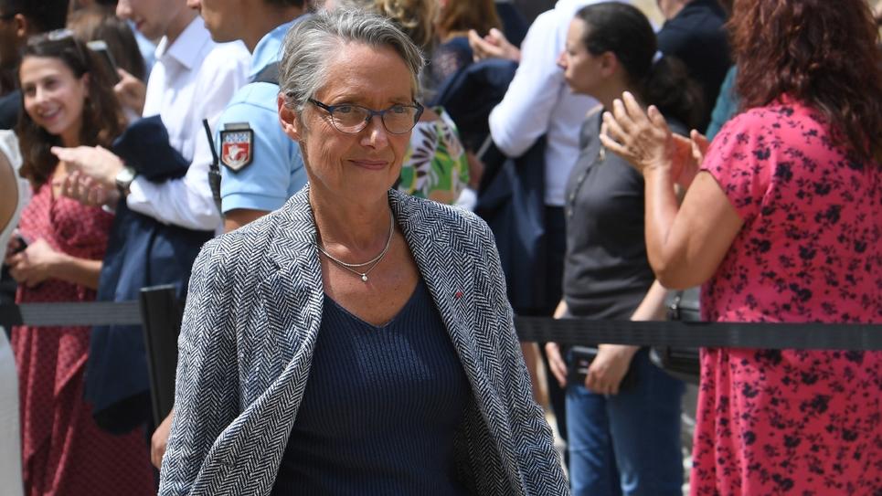 Elisabeth Borne au ministère de l'Ecologie à Paris le 17 juillet 2019