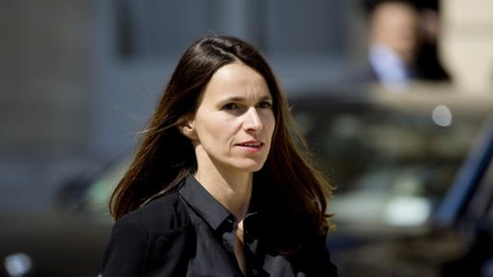 La ministre de la Culture Aurélie Filippetti à l'Elysée à Paris le 14 mai 2014